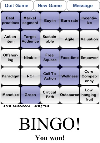 Screenshot B.S. Bingo